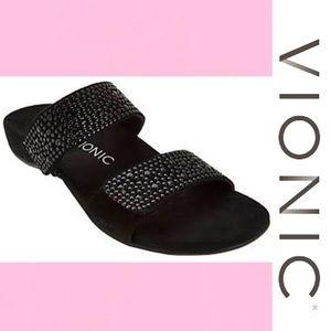 VIONIC SAMOA SLIDE SANDAL Black Size 10